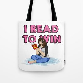 I Read to Win! Tote Bag