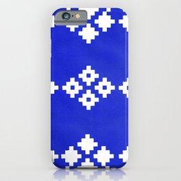 Geometric Pattern   Blue Background iPhone Case