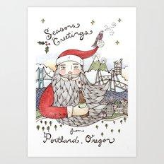 A Very Portland Christmas Art Print