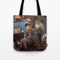 tinker bell Tote Bags featuring Tinker by Magical Playlist