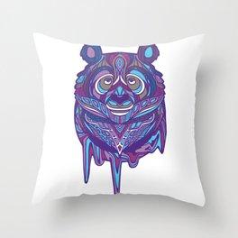 Melty Panda (Purple Variant) Throw Pillow