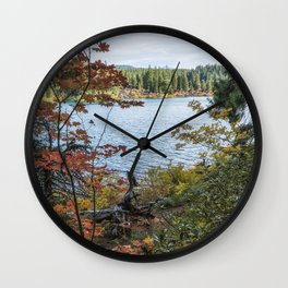 Splashes of Color Around Clear Lake Wall Clock