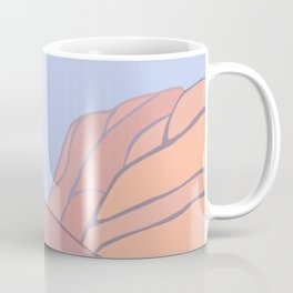 mojave moon: desert landscape painting Coffee Mug