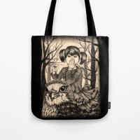 fairy tale Tote Bags featuring Fairy tale by Paula Duta