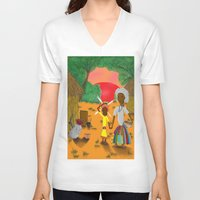 book cover V-neck T-shirts featuring Kilalu book cover by Vincent Poe