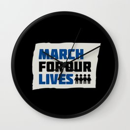 March For Our Lives Wall Clock