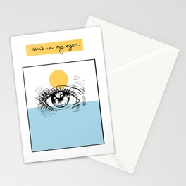 Sun's in my Eyes Stationery Cards