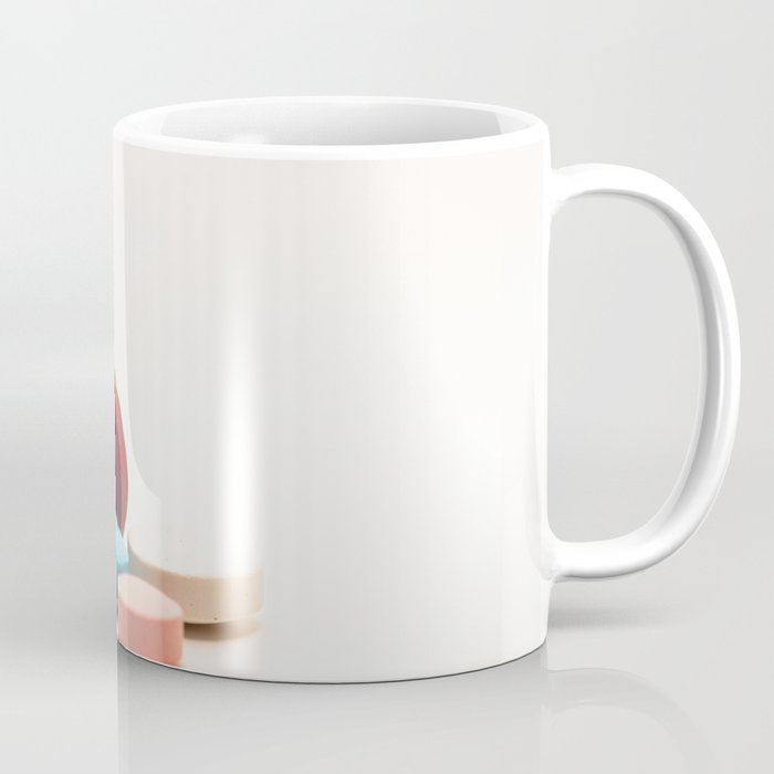 Numerous medicines Medications in the form of tablets  Colored pills on a  white background  Coffee Mug by horacioselva