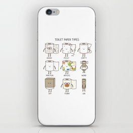 toilet paper types iPhone Skin