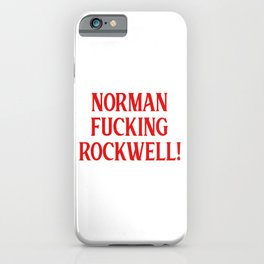 Norman Rockwell. Lana, dia del padre, Venice beach, ldr, nfr iPhone Case
