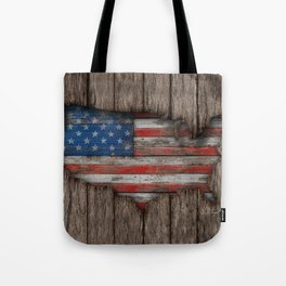 American Wood Flag Tote Bag