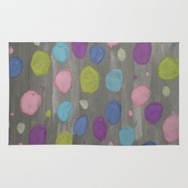 Pastel Bubbles Abstract Rug