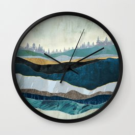 Turquoise Hills Wall Clock