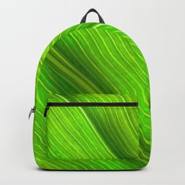 Flowing veins of Nature - Bright Lime Green Leaf Abstract Backpack