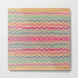 Vintage distorted stripes pattern Metal Print