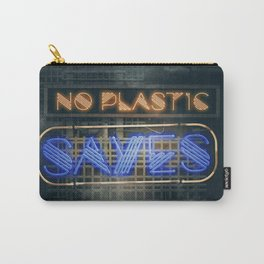 No Plastic - Say Yes – Save the Planet Carry-All Pouch