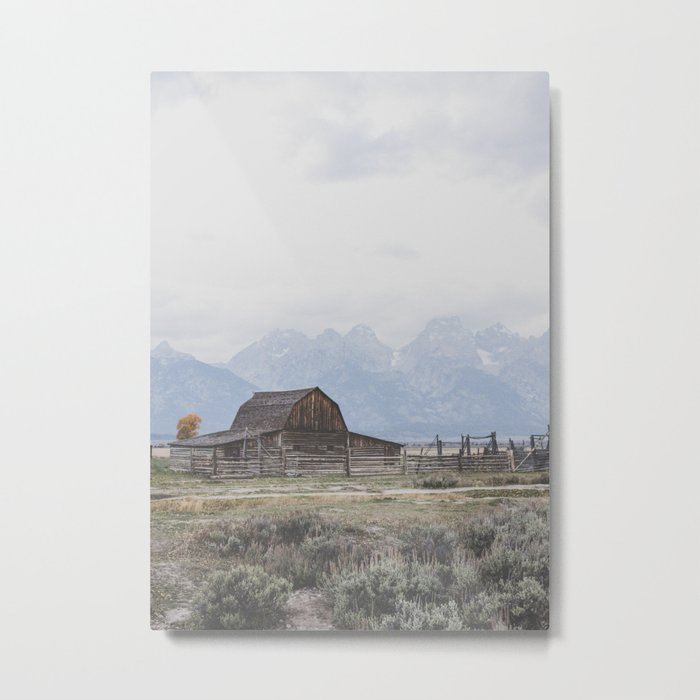 Mormon Row Metal Print
