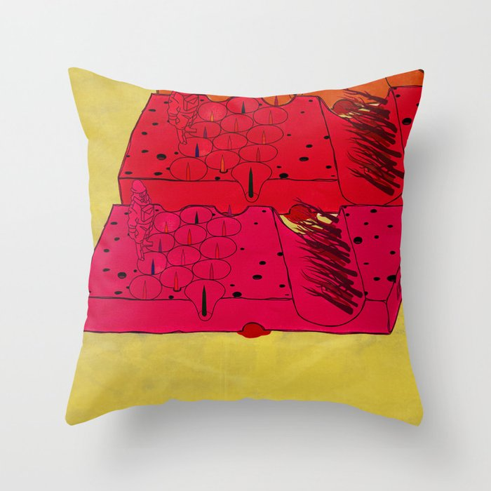 INDUSTRIAL CHEESE Throw Pillow by kasiminami  Society6