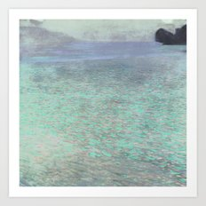 Klimt at Attersee Art Print