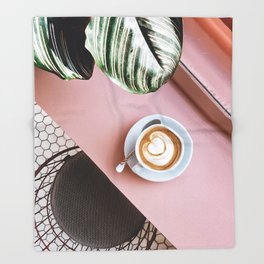 pink latte Throw Blanket