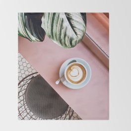 pink latte Throw Blanket
