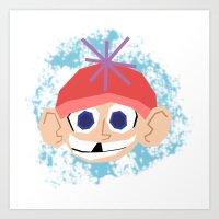 Snow Kid Art Print