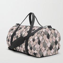 Rose Gold Blush Mermaid Princess Glitter Scales #1 #shiny #decor #art #society6 Duffle Bag