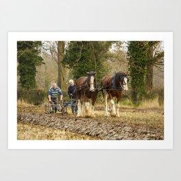 Working Horses 3 Art Print
