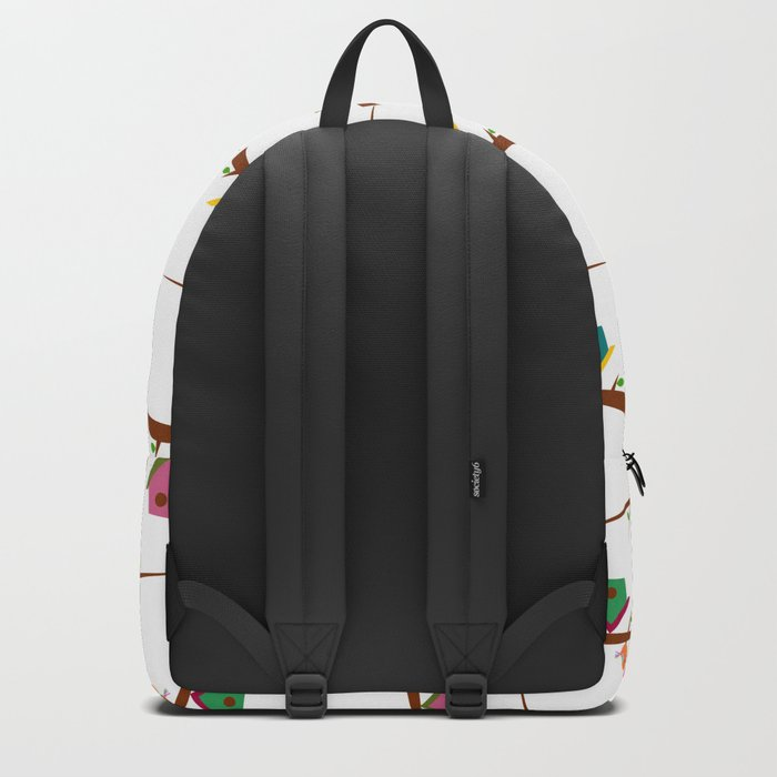 Birds on branches in spring Backpack