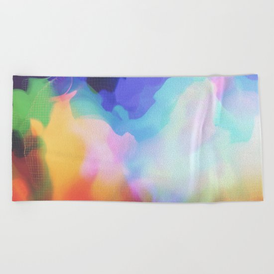 Glitch 03 Beach Towel
