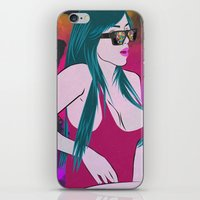 glasses iPhone & iPod Skins featuring Glasses by Dessie Petkova