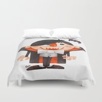 dracula Duvet Covers featuring Dracula kid by Lime