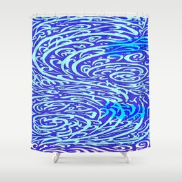 Blue river Shower Curtain