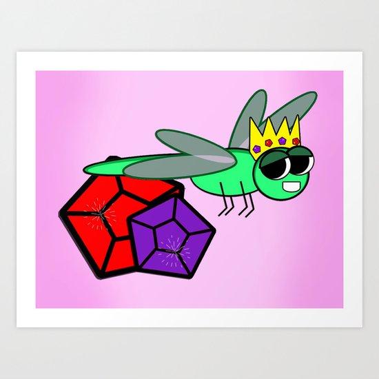 The Queen Bug  Art Print
