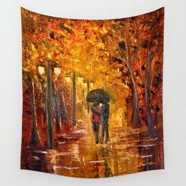 Les amoureux sous la pluie Wall Tapestry