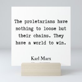 12 | Karl Marx Quotes | 190817 Mini Art Print