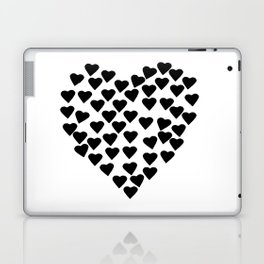 Hearts Heart Black and White Laptop & iPad Skin