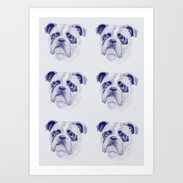 Bulldog Blues Art Print