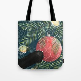 Here Comes Santa Claws Tote Bag