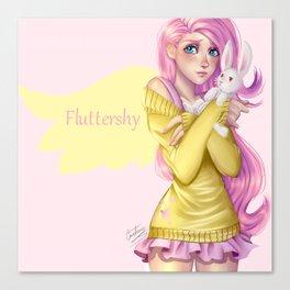 Human Fluttershy Canvas Print