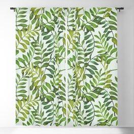 Fern pattern 03 Blackout Curtain
