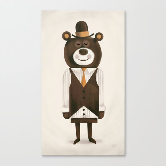Business Bear Canvas Print