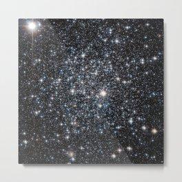 Stars : subtle black blue gold Metal Print