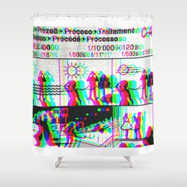 Analogue 001 Shower Curtain