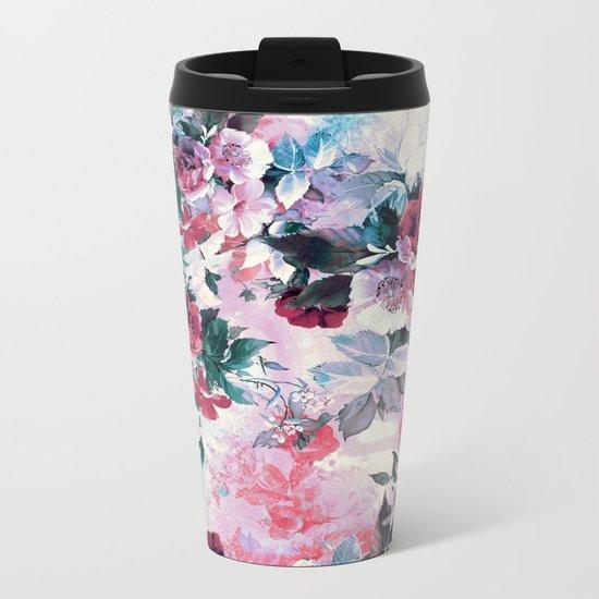 Beautiful Roses Metal Travel Mug