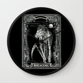 DEATH of Tarot Cat Wall Clock