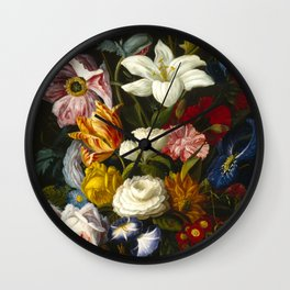 Victorian Bouquet by Severin Roesen Wall Clock