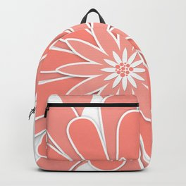 Coral flower . 2 Backpack