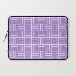Basketweave (White & Lavender Pattern) Laptop Sleeve
