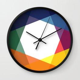 Rainbow geometry Wall Clock
